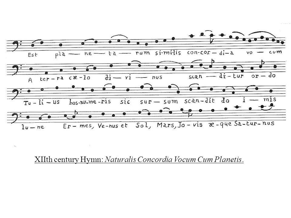 XIIth century Hymn: Naturalis Concordia Vocum Cum Planetis.