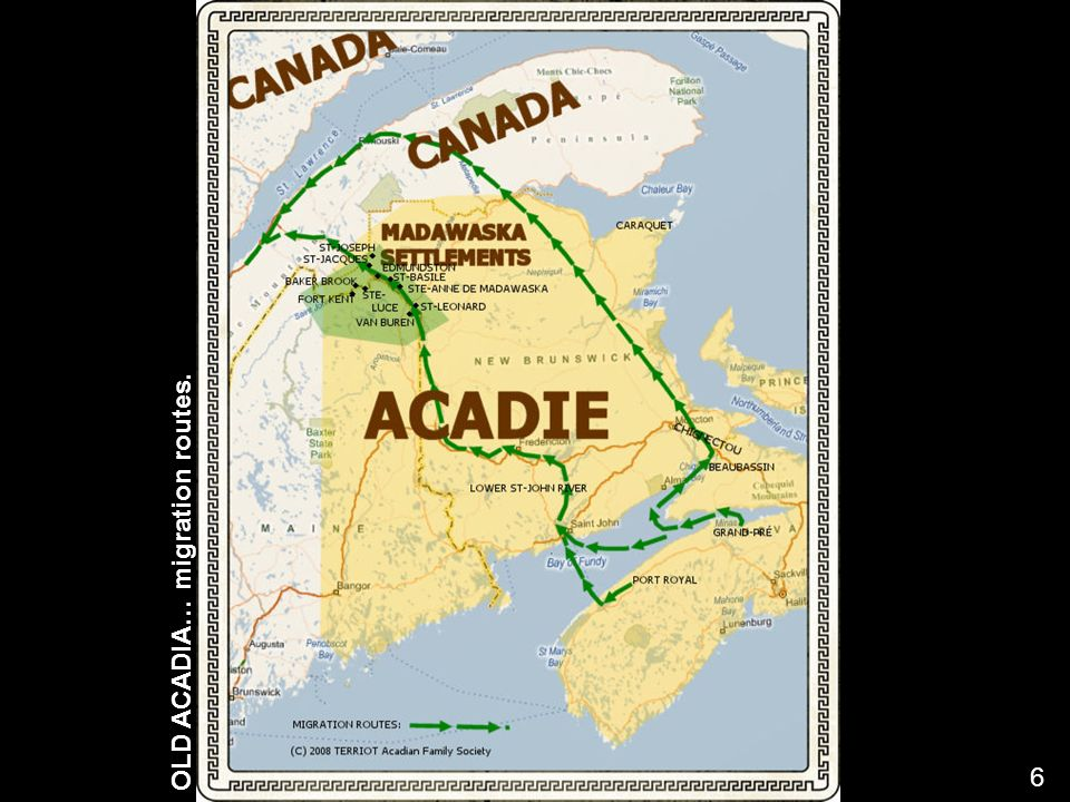 OLD ACADIA… migration routes. 6