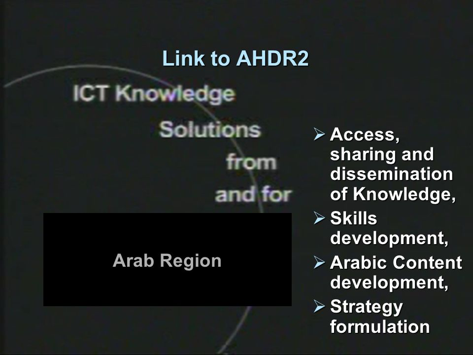 4 Link to AHDR2 Access, sharing and dissemination of Knowledge, Access, sharing and dissemination of Knowledge, Skills development, Skills development