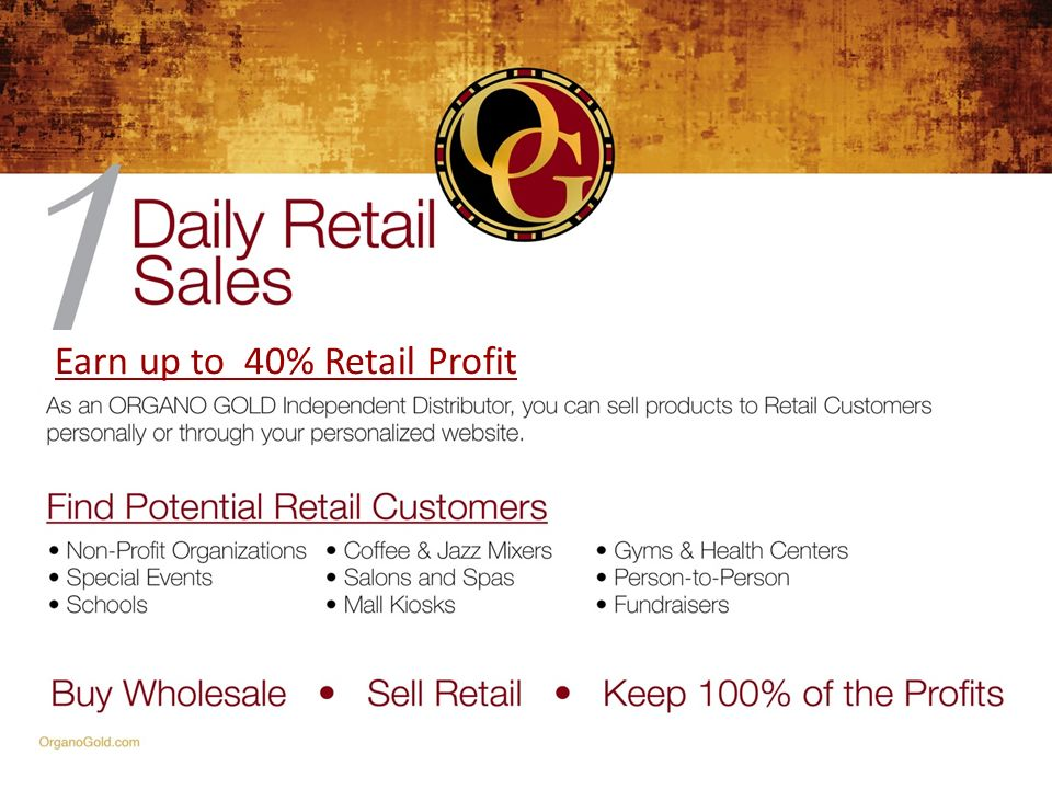 Earn up to 40% Retail Profit