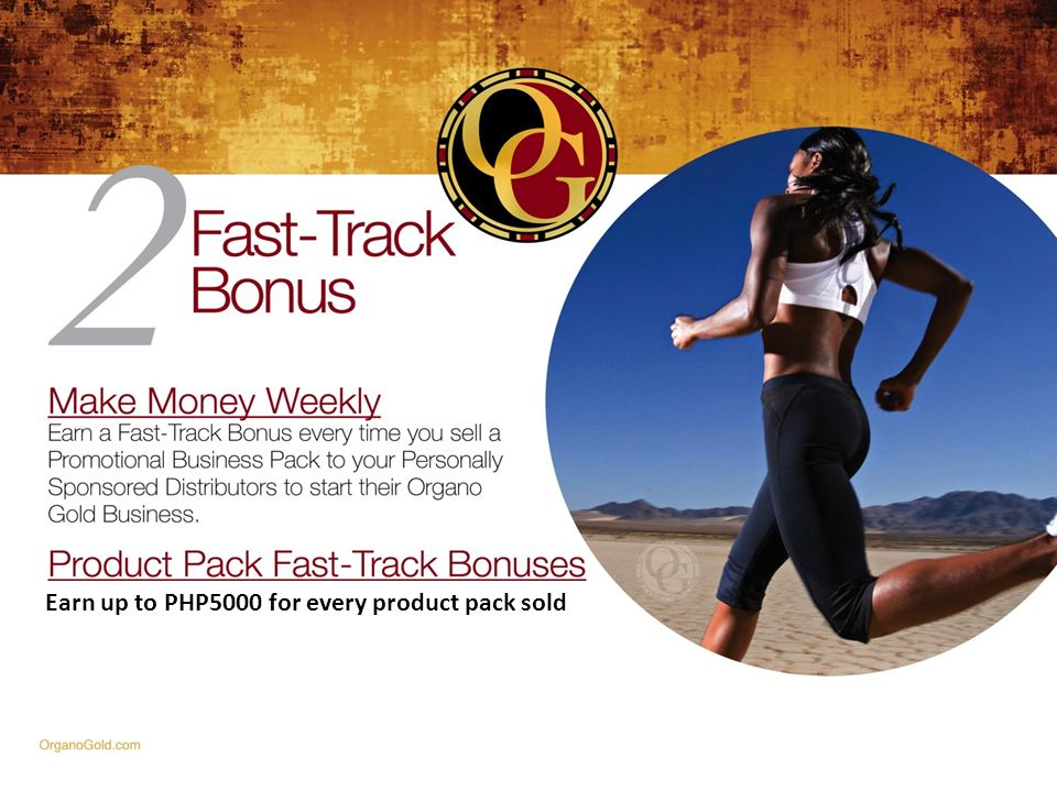 Earn up to PHP5000 for every product pack sold