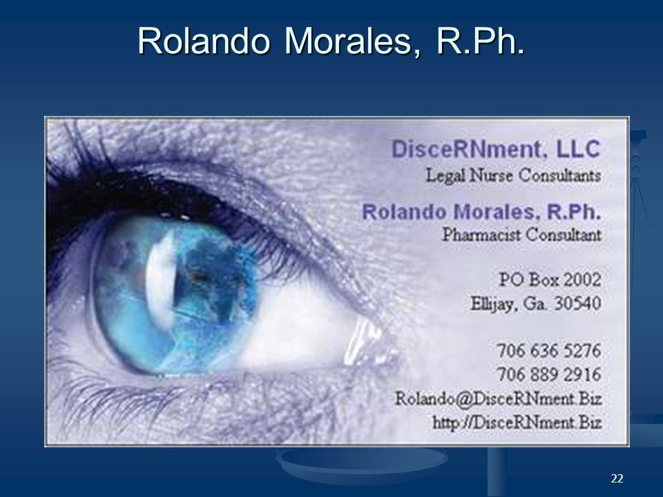 22 Rolando Morales, R.Ph.