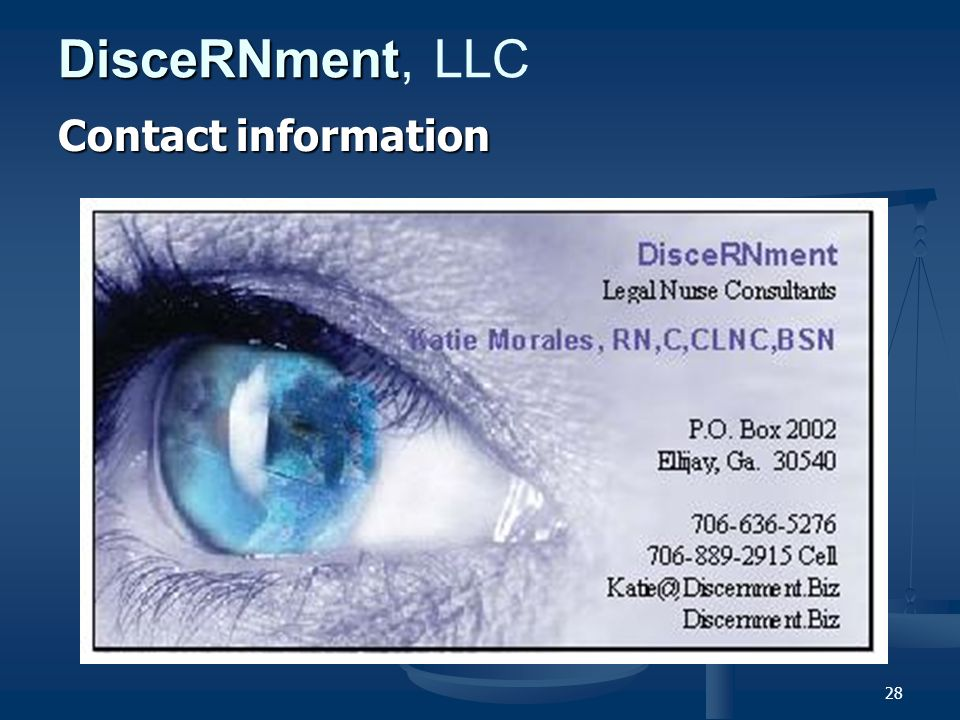 28 DisceRNment DisceRNment, LLC Contact information