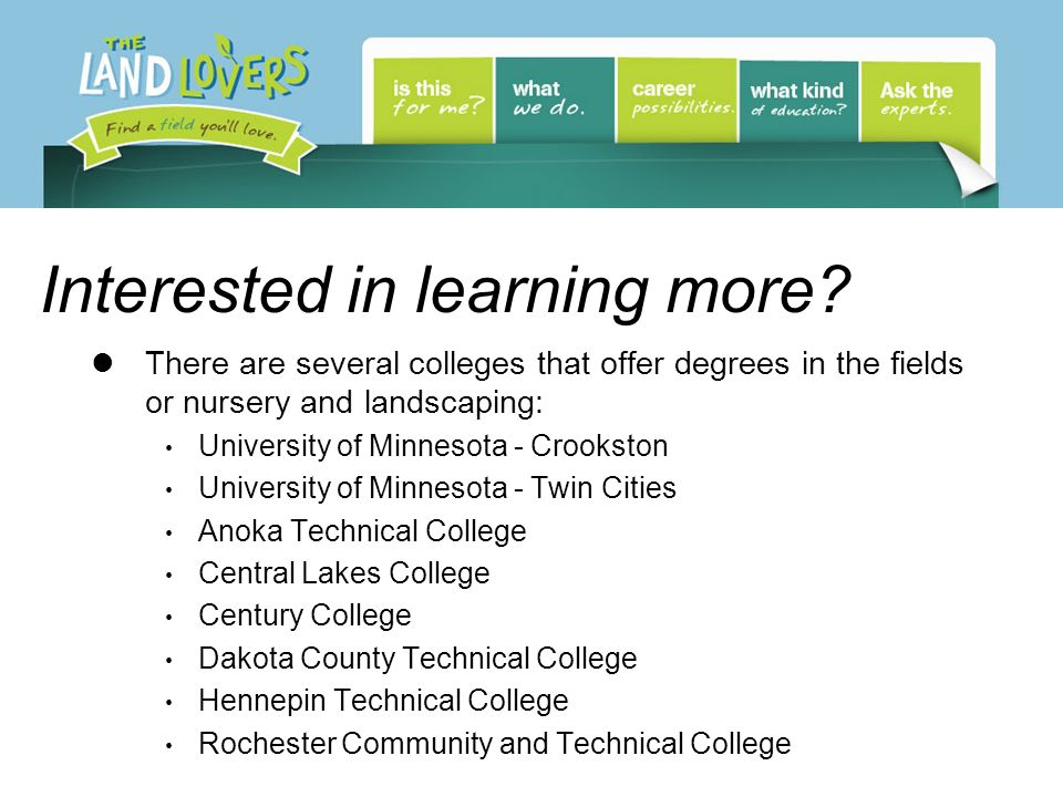 Interested in learning more.