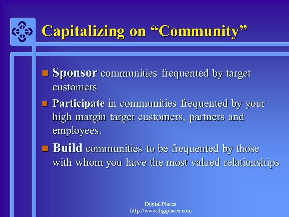 Digital Places http://www.digiplaces.com Online Staff Roles Advisors, Allies, Ambassadors, Community Proxies, Feedback Gatherers, Greeters, Mediators, Moderators, Representatives, Role Models, Supporters, Teachers….