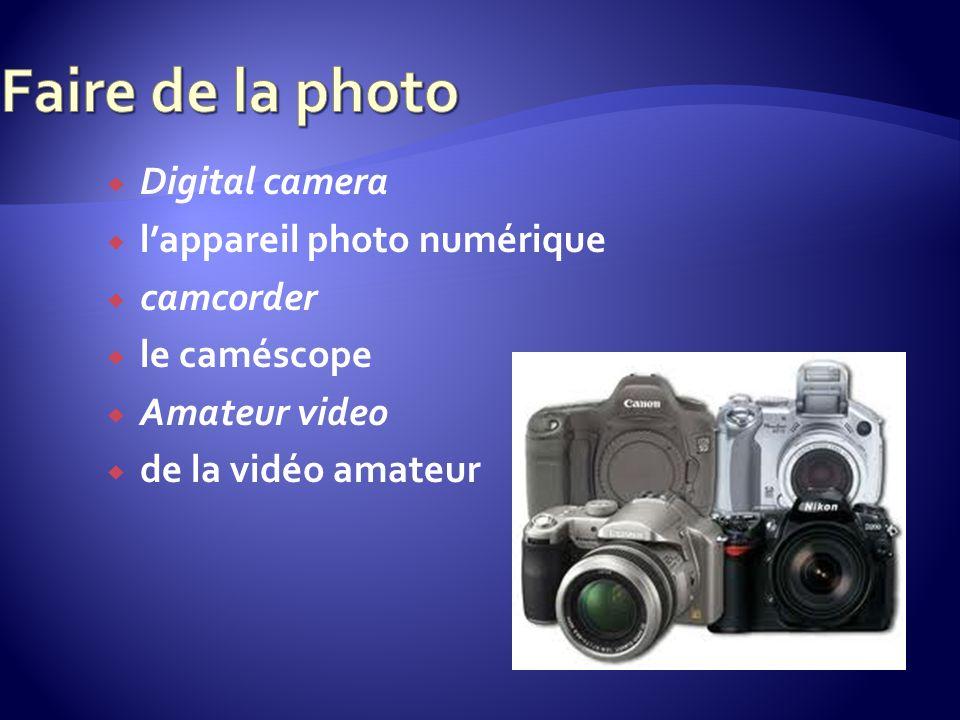 Digital camera lappareil photo numérique camcorder le caméscope Amateur video de la vidéo amateur