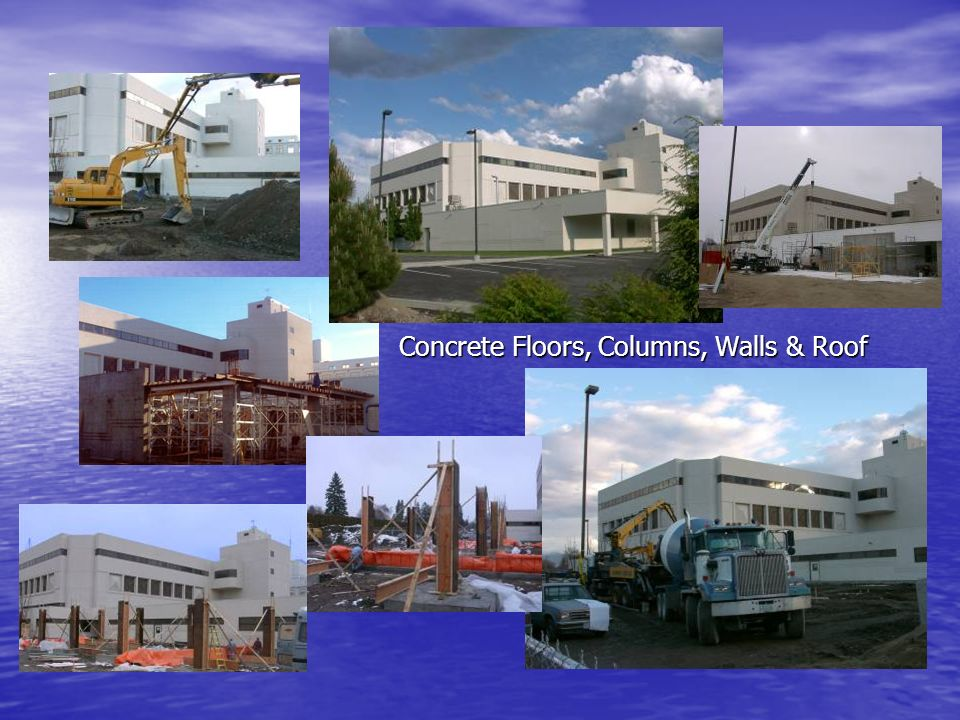 Concrete Floors, Columns, Walls & Roof