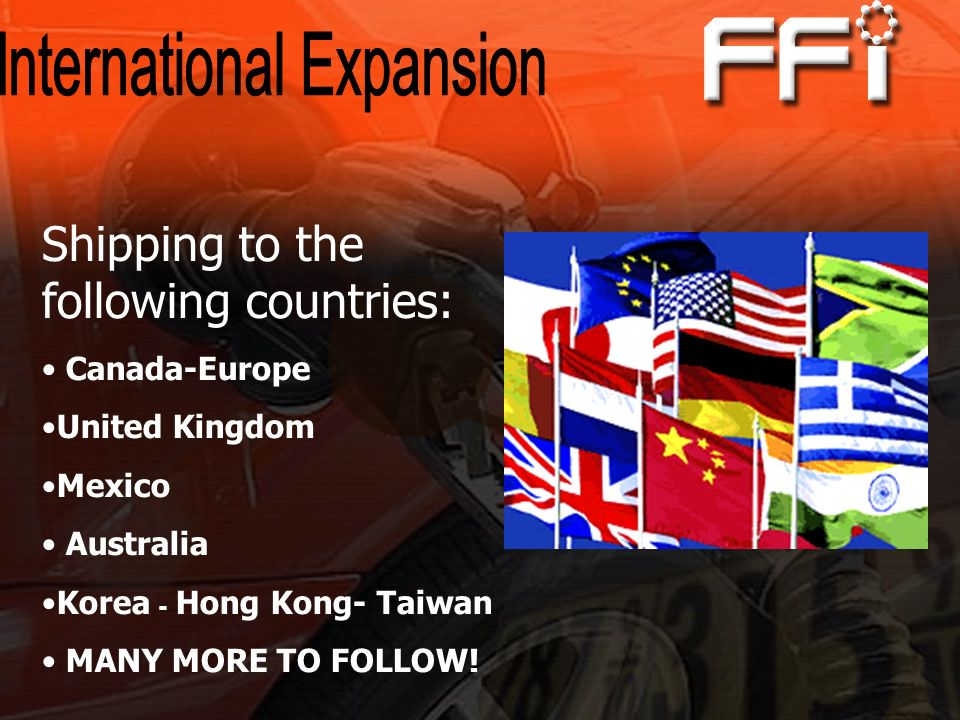 Shipping to the following countries: Canada-Europe United Kingdom Mexico Australia Korea - Hong Kong- Taiwan MANY MORE TO FOLLOW!