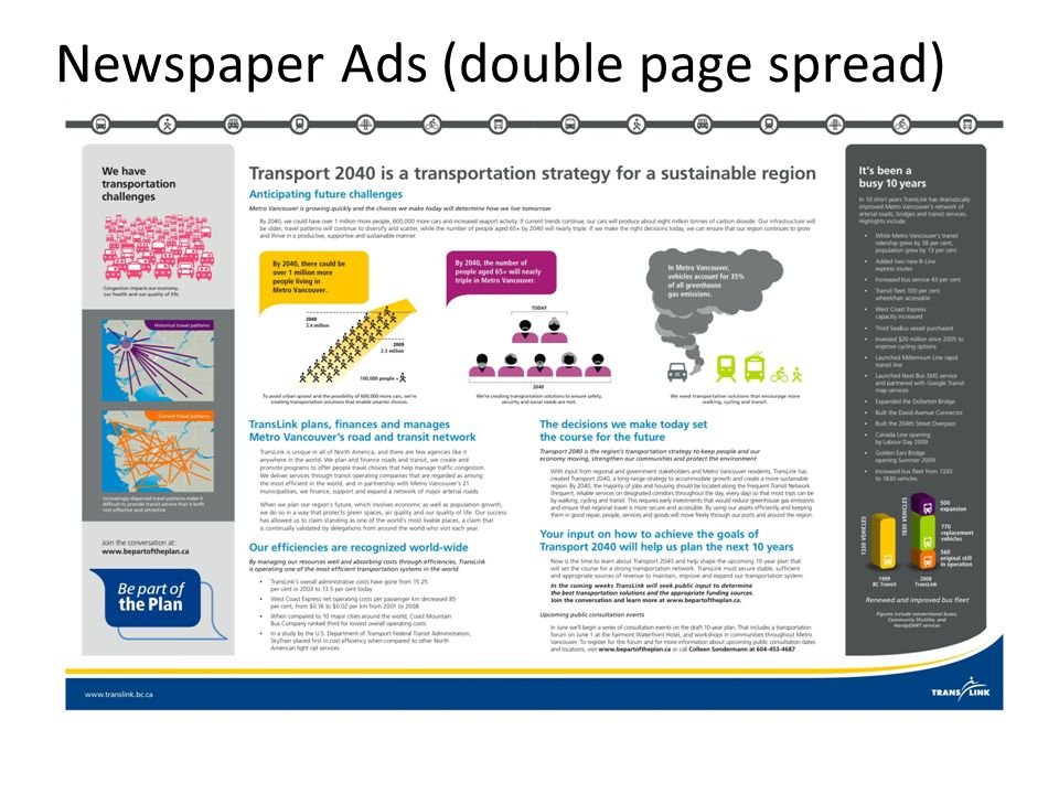 Newspaper Ads (double page spread)