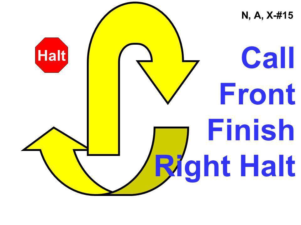 N, A, X-#15 Call Front Finish Right Halt Halt
