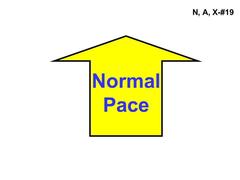 Normal Pace N, A, X-#19