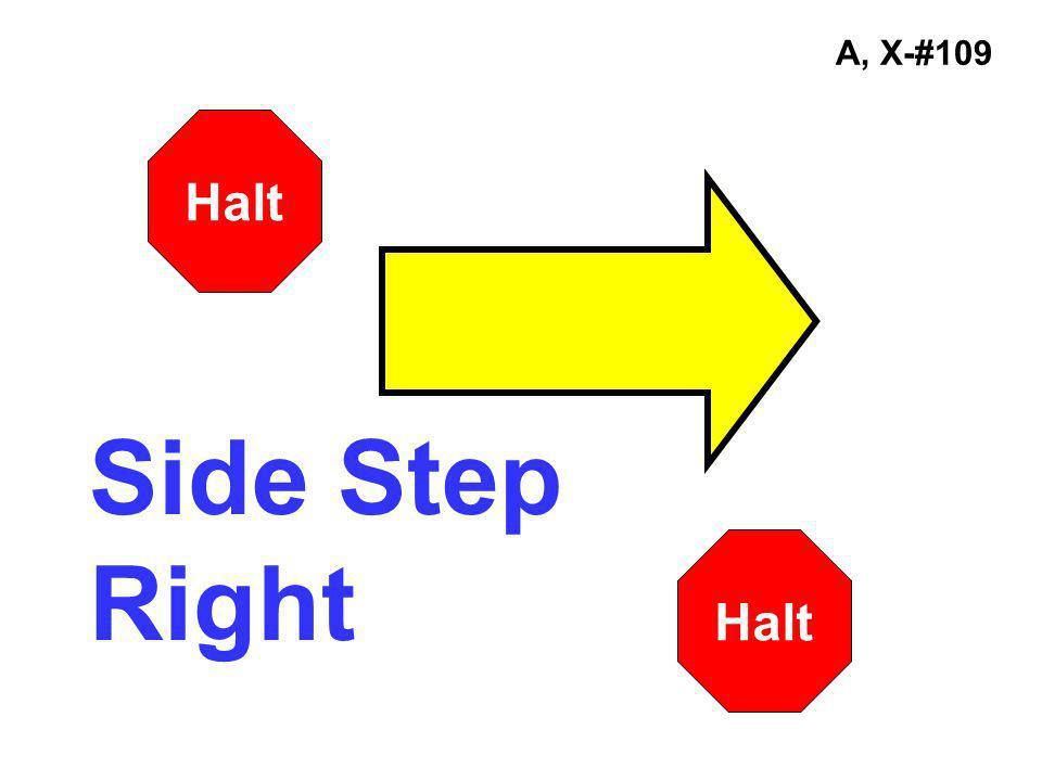 A, X-#109 Side Step Right Halt