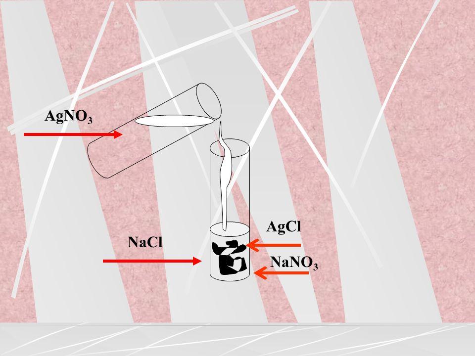 substancja jonowa (1) aq + substancja jonowa (2) aq sól +.............. AgNO 3 + NaCl AgCl + NaNO 3 Ag + + Cl AgCl CuCl 2 + 2KOH Cu(OH) 2 + 2KCl Cu 2+