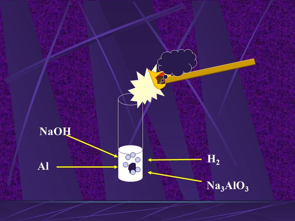 metal + wodorotlenek sól + H 2 2Al + 6NaOH 2Na 3 AlO 3 + 3H 2 ortoglinian sodu