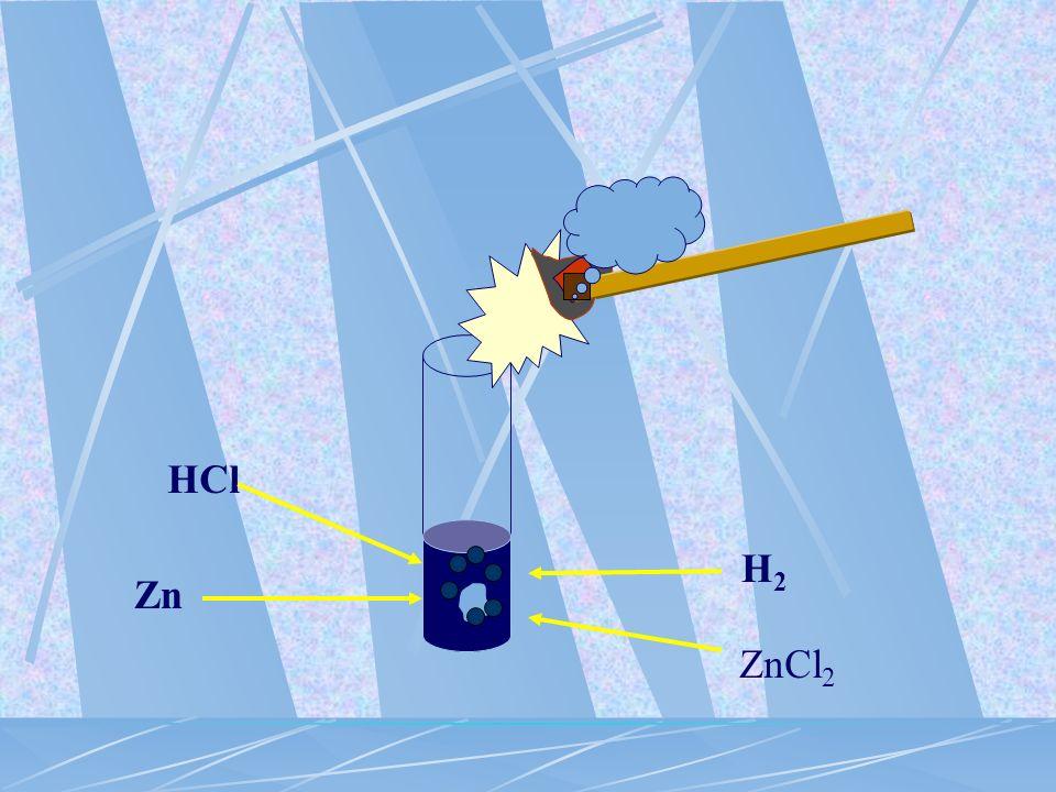 metal + kwas sól +......... Zn + 2HCl ZnCl 2 + H 2 wodór metal nieszlachetny : Cu + 4HNO 3 Cu(NO 3 ) 2 + 2NO 2 + 2H 2 O tlenek niemetalu + woda metal