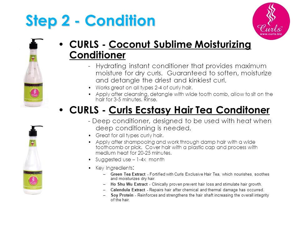 Step 2 - Condition CURLS - Coconut Sublime Moisturizing Conditioner - Hydrating instant conditioner that provides maximum moisture for dry curls. Guar
