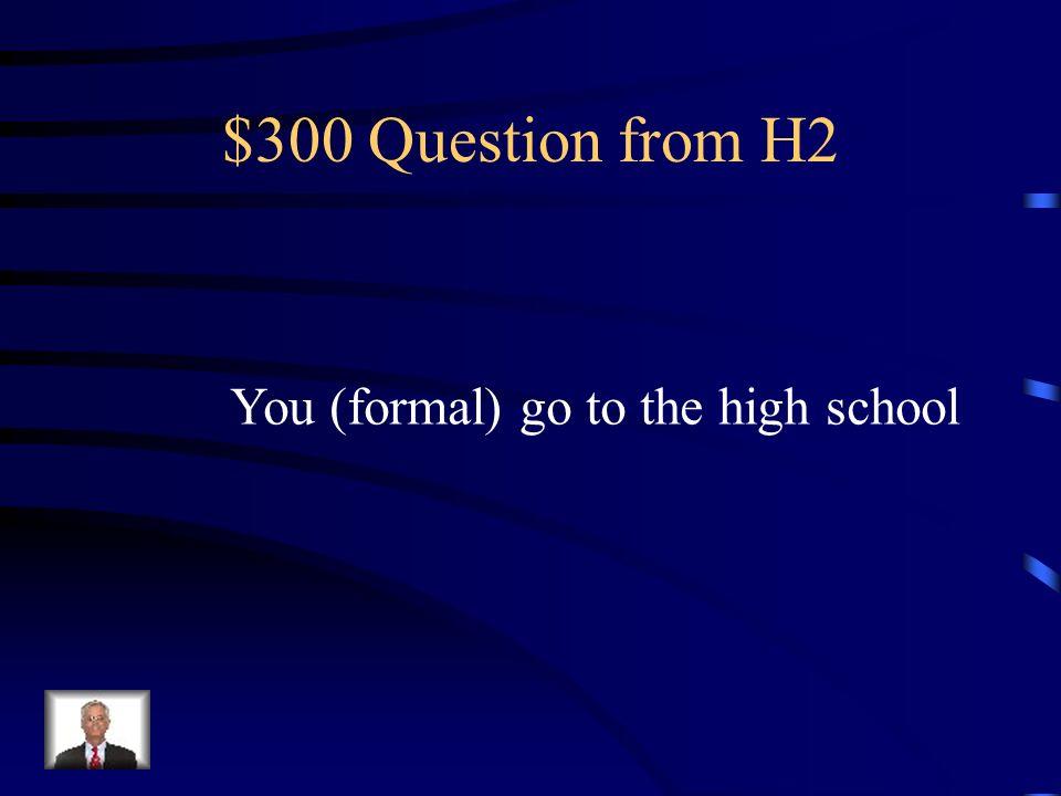 $200 Answer from H2 Elle va au centre commercial