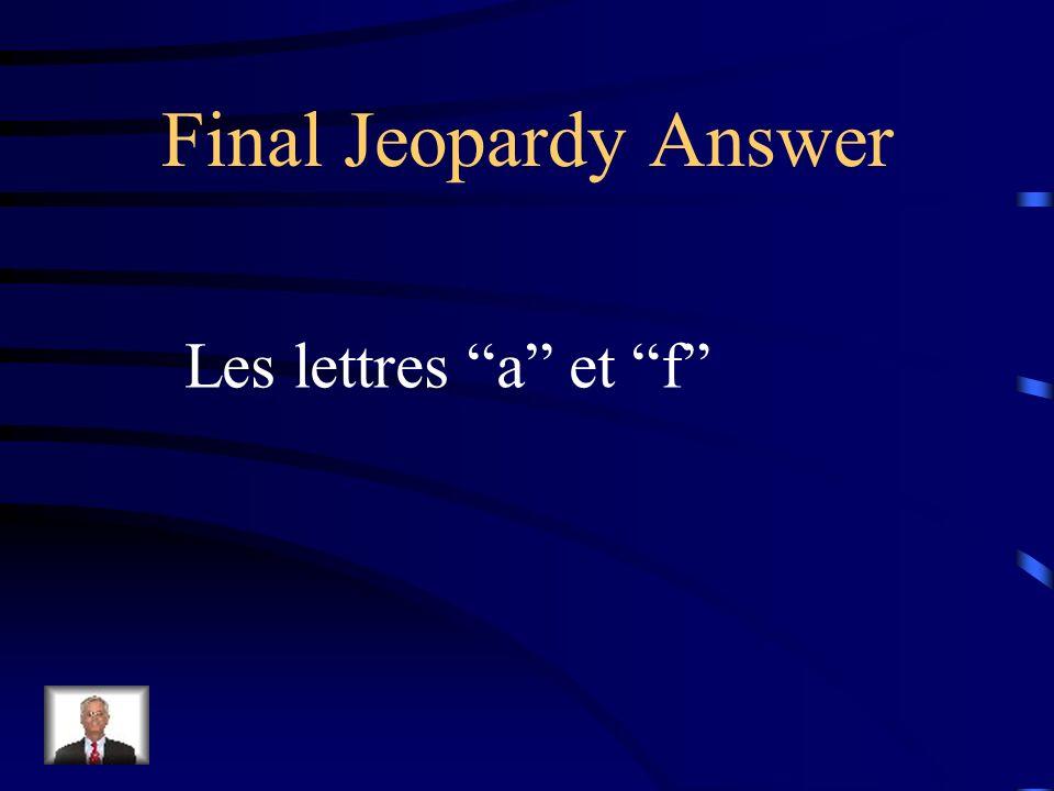 Final Jeopardy Quest-ce quil y a dans le café