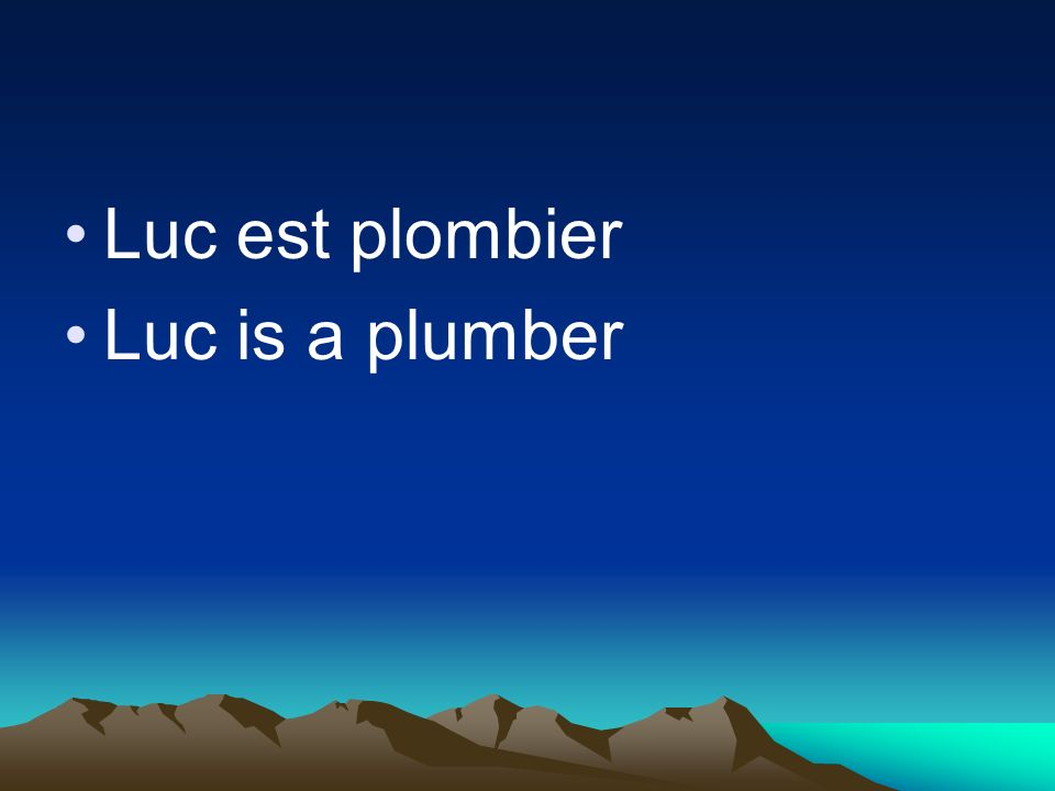 Luc is a plumber