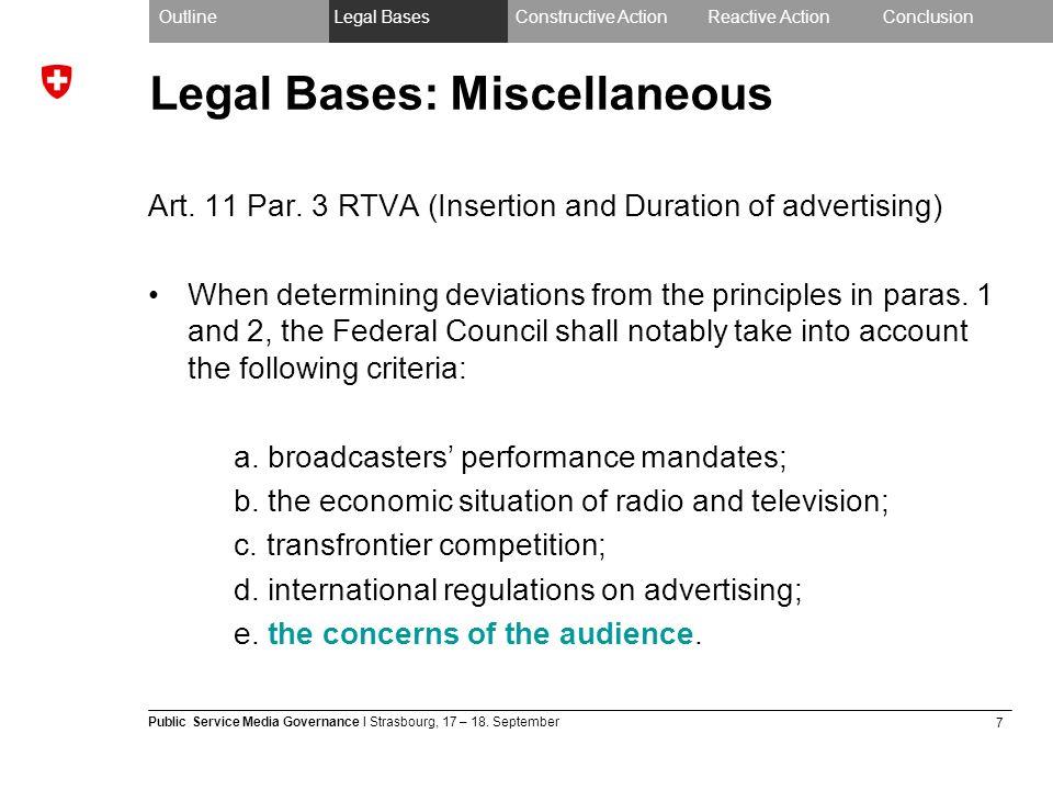 7 Public Service Media Governance I Strasbourg, 17 – 18.