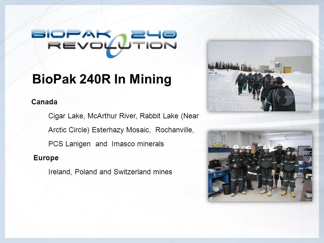 BioPak 240R In Mining Canada Cigar Lake, McArthur River, Rabbit Lake (Near Arctic Circle) Esterhazy Mosaic, Rochanville, PCS Lanigen and Imasco minera