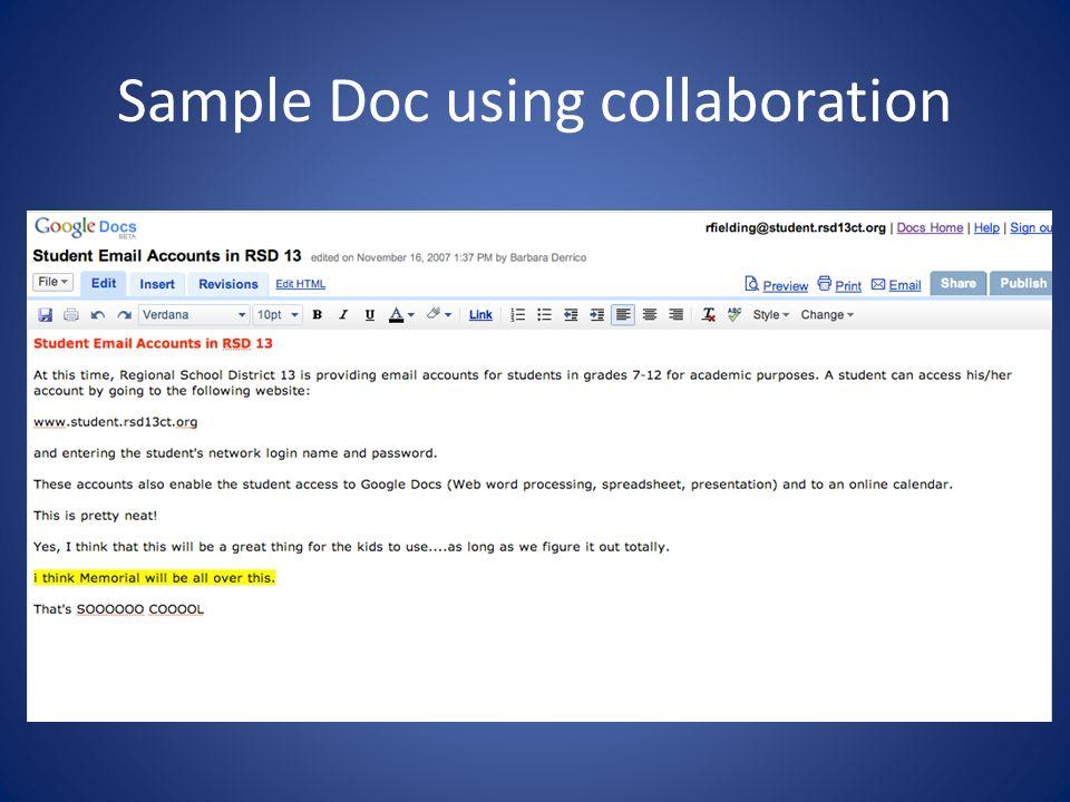 Sample Doc using collaboration