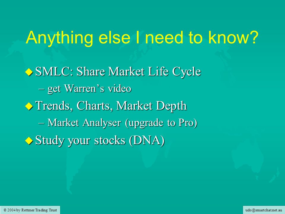 udo@smartchat.net.au © 2004 by Rettmer Trading Trust Example: CSL Jan 2002