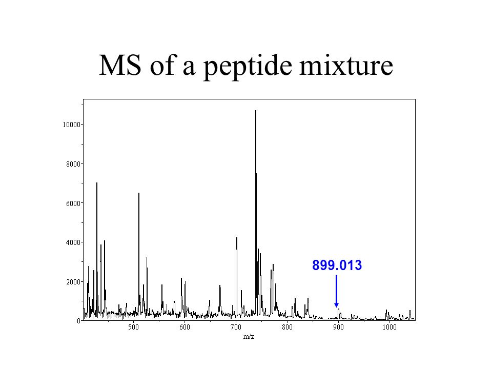 MS of a peptide mixture 899.013