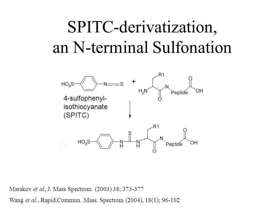4-sulfophenyl- isothiocyanate (SPITC) Marakov et al, J.