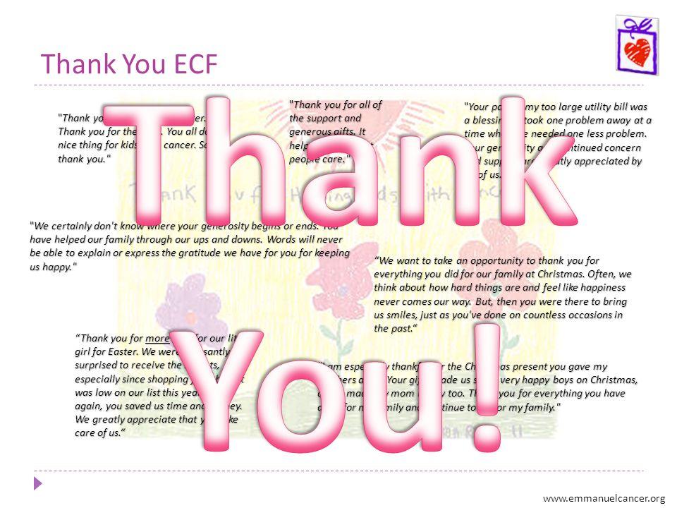 Thank You ECF