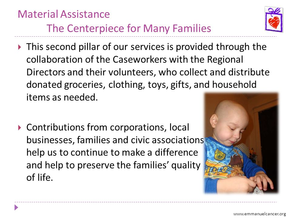 Financial Aid A Critical Resource for Those in Crisis Emergency funds are available for ECF families who find themselves in a financial crisis.