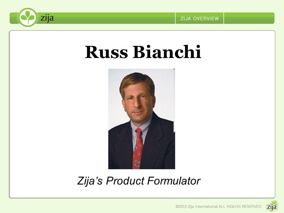 Russ Bianchi Zijas Product Formulator
