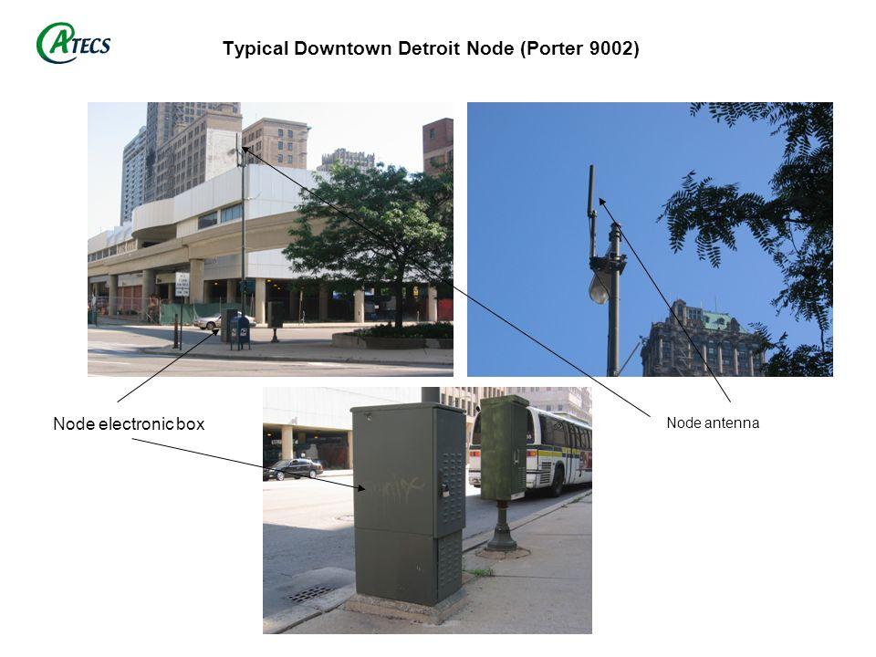 Typical Suburban Detroit Node (DE 3020) Node electronic box Node antenna
