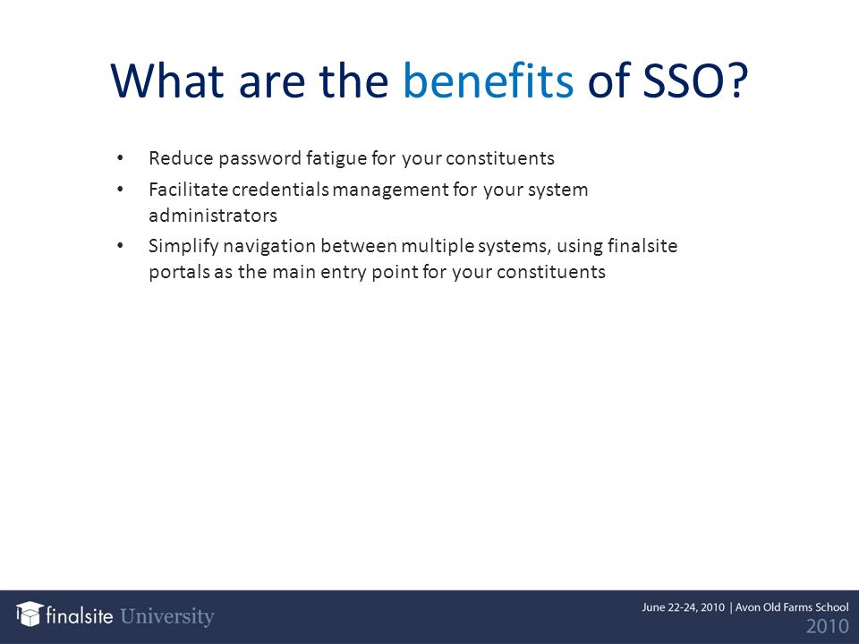 How does SSO work.
