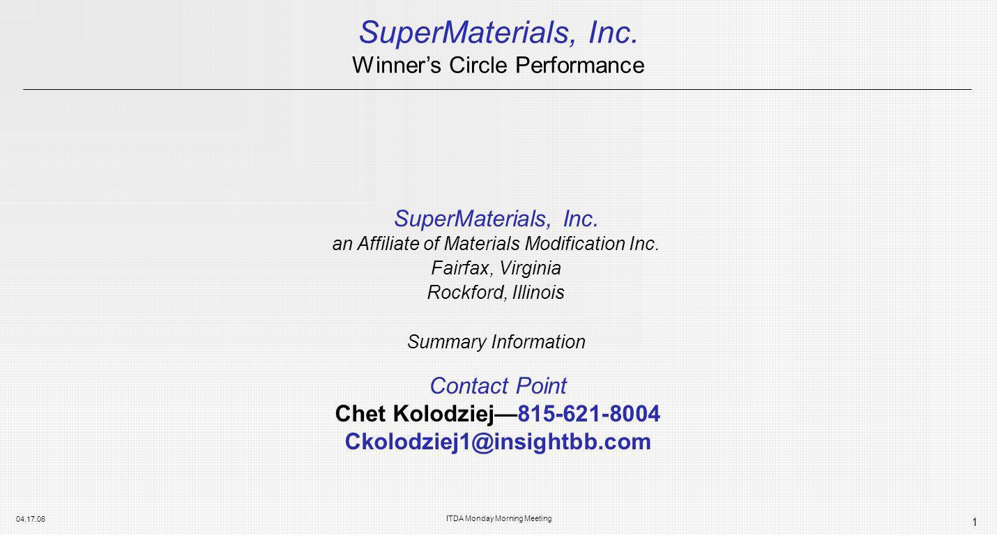 SuperMaterials, Inc.