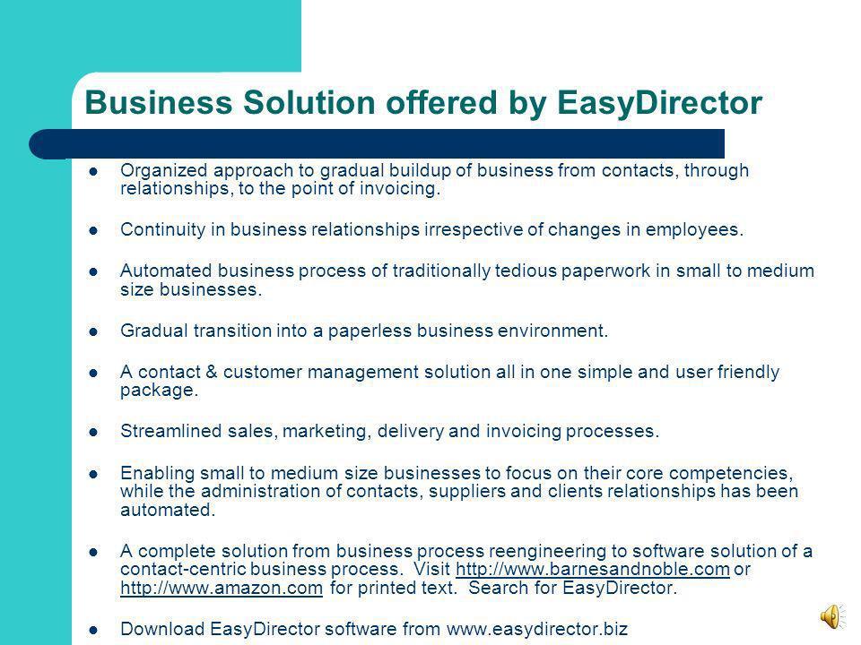 Why EasyDirector?