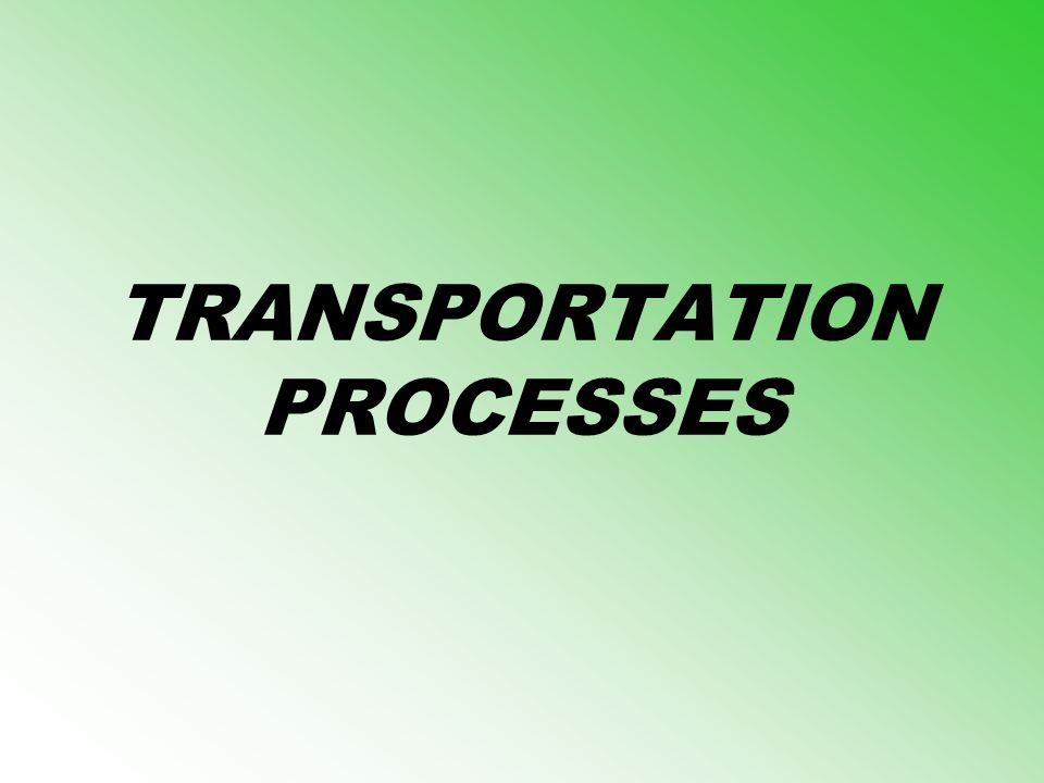 TRANSPORTATION PROCESSES