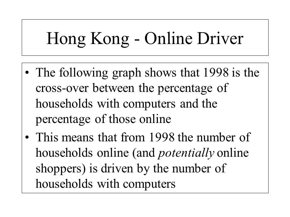 PCs Online Penetration Rate % Note: Assume an upper bound of 100%