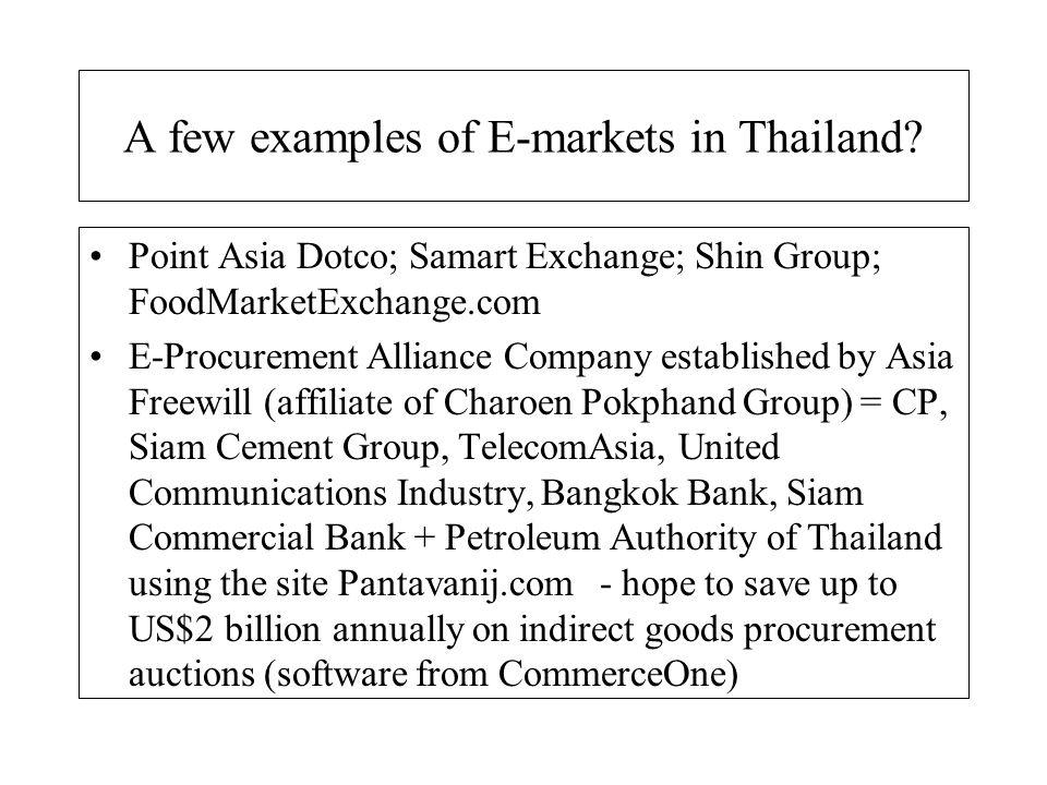 Bizarre range of estimates for e-commerce in Thailand.