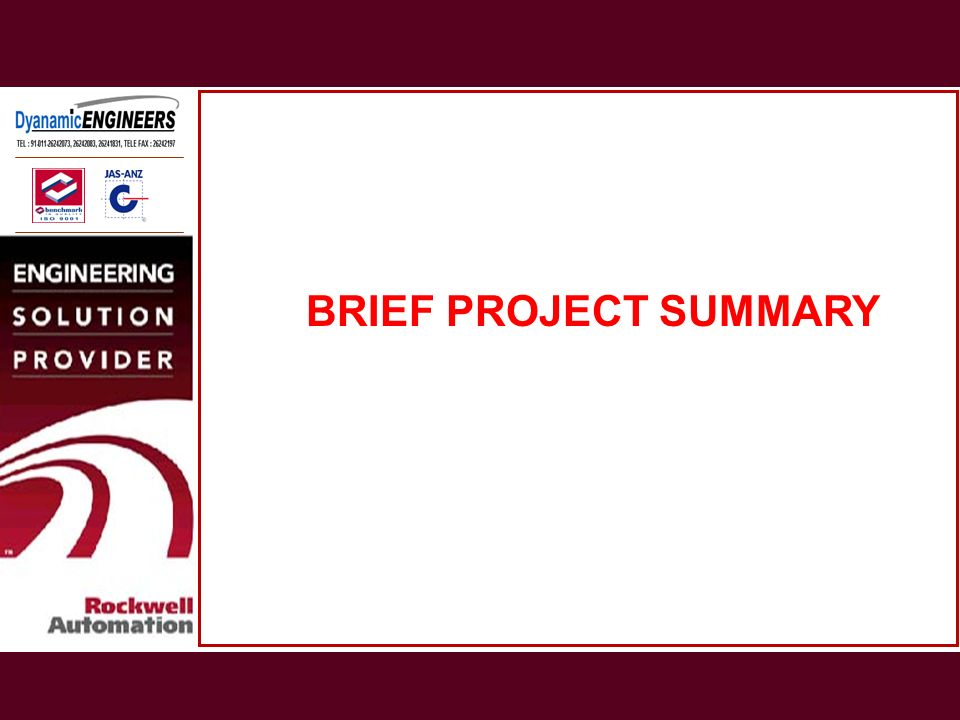 BRIEF PROJECT SUMMARY