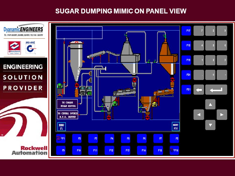 SUGAR DUMPING MIMIC ON PANEL VIEW