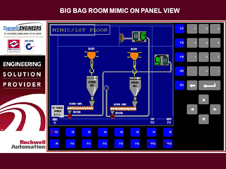 BIG BAG ROOM MIMIC ON PANEL VIEW