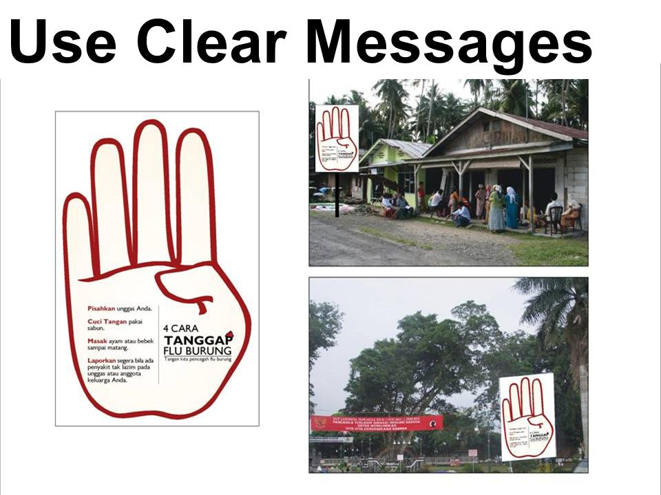 Use Clear Messages