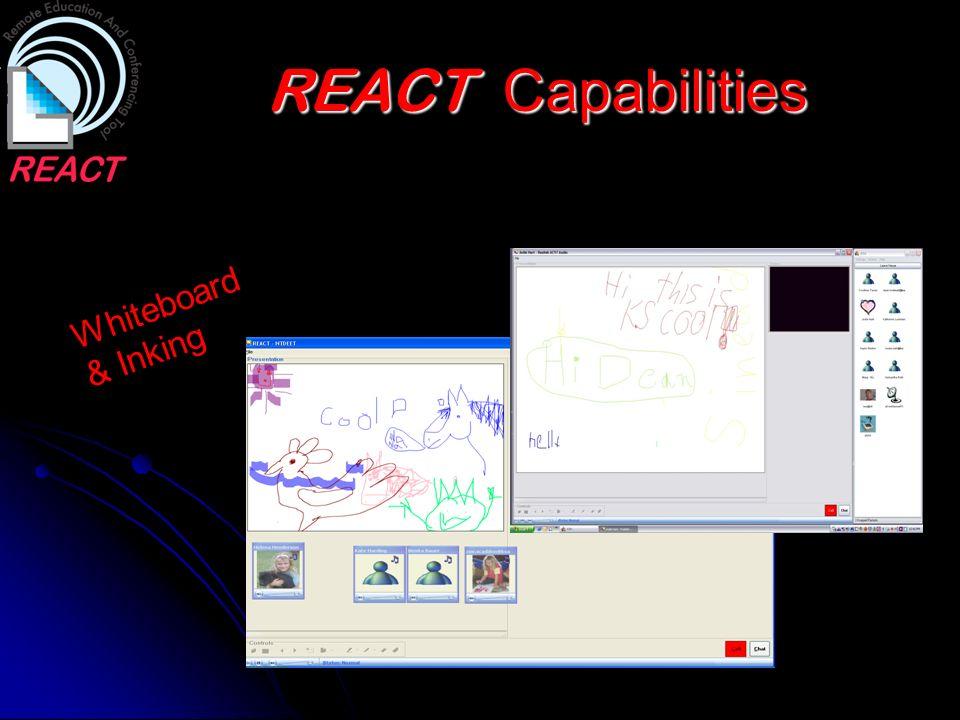 REACT Capabilities Whiteboard & Inking