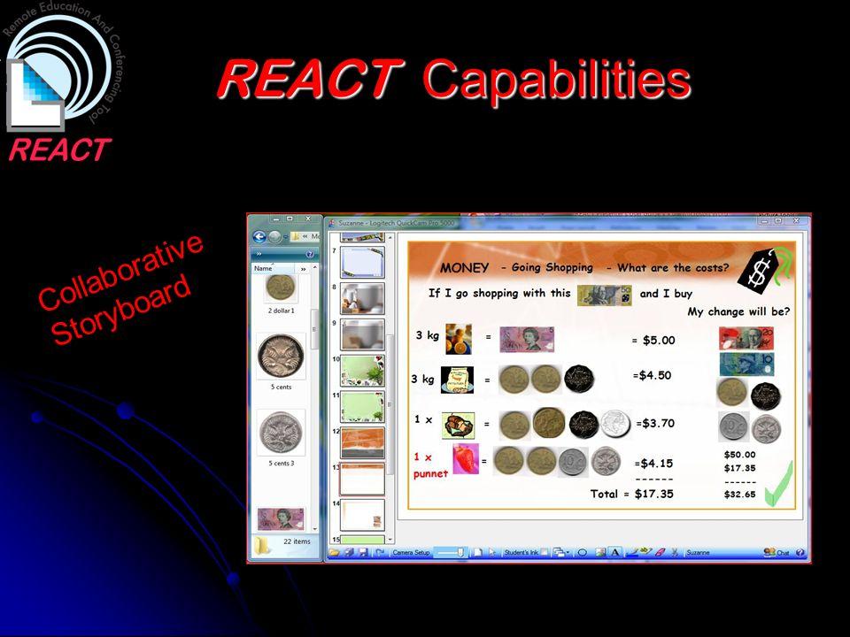 REACT Capabilities Collaborative Storyboard