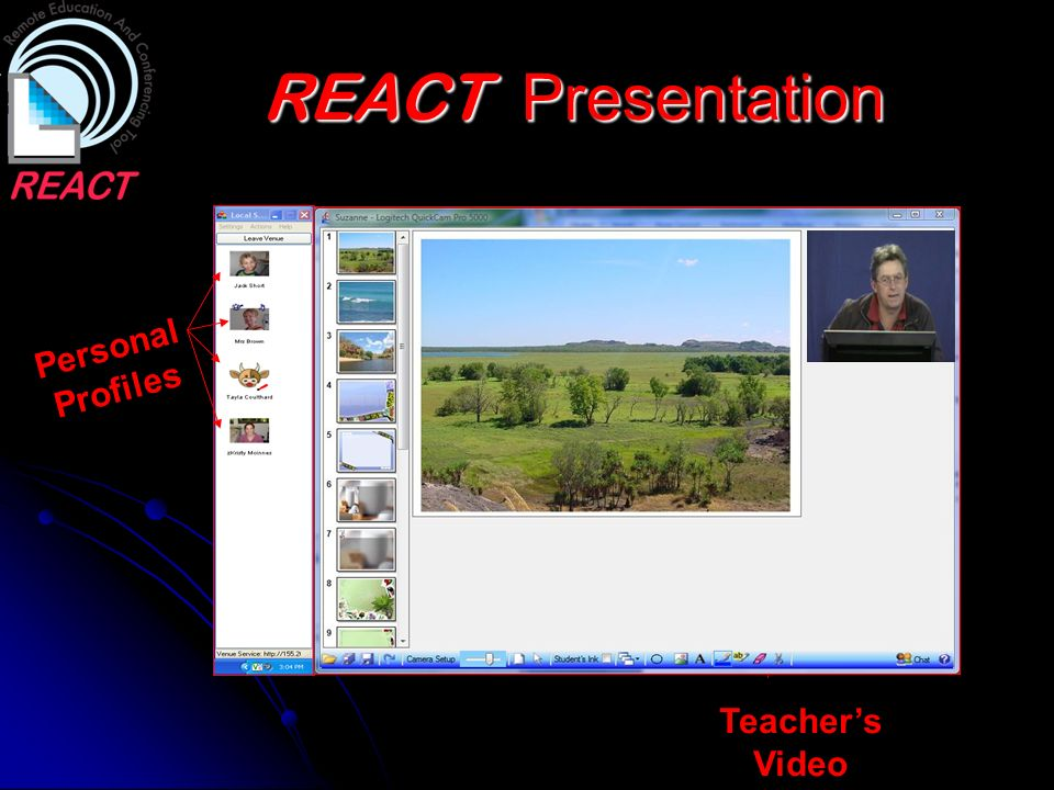 REACT Presentation Personal Profiles Teachers Video