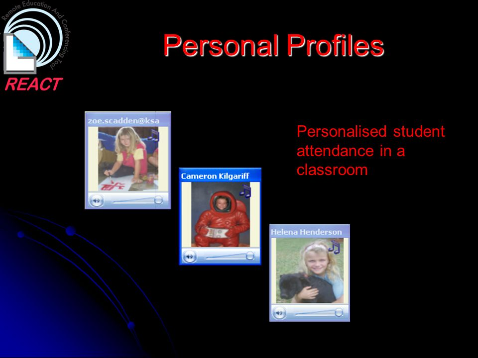 Personal Profiles Personalised student attendance in a classroom