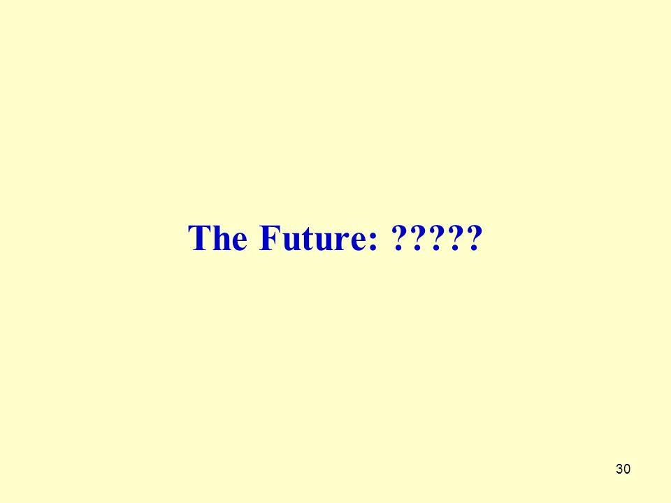 30 The Future: ?????