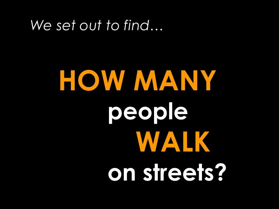 Pedestrian Paths Modelled Now