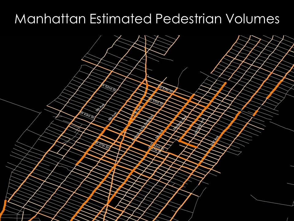 Manhattan Estimated Pedestrian Volumes